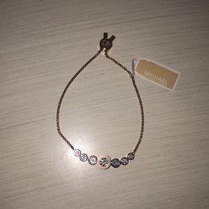 Michael Kors Adjustable Rose Gold Bracelet